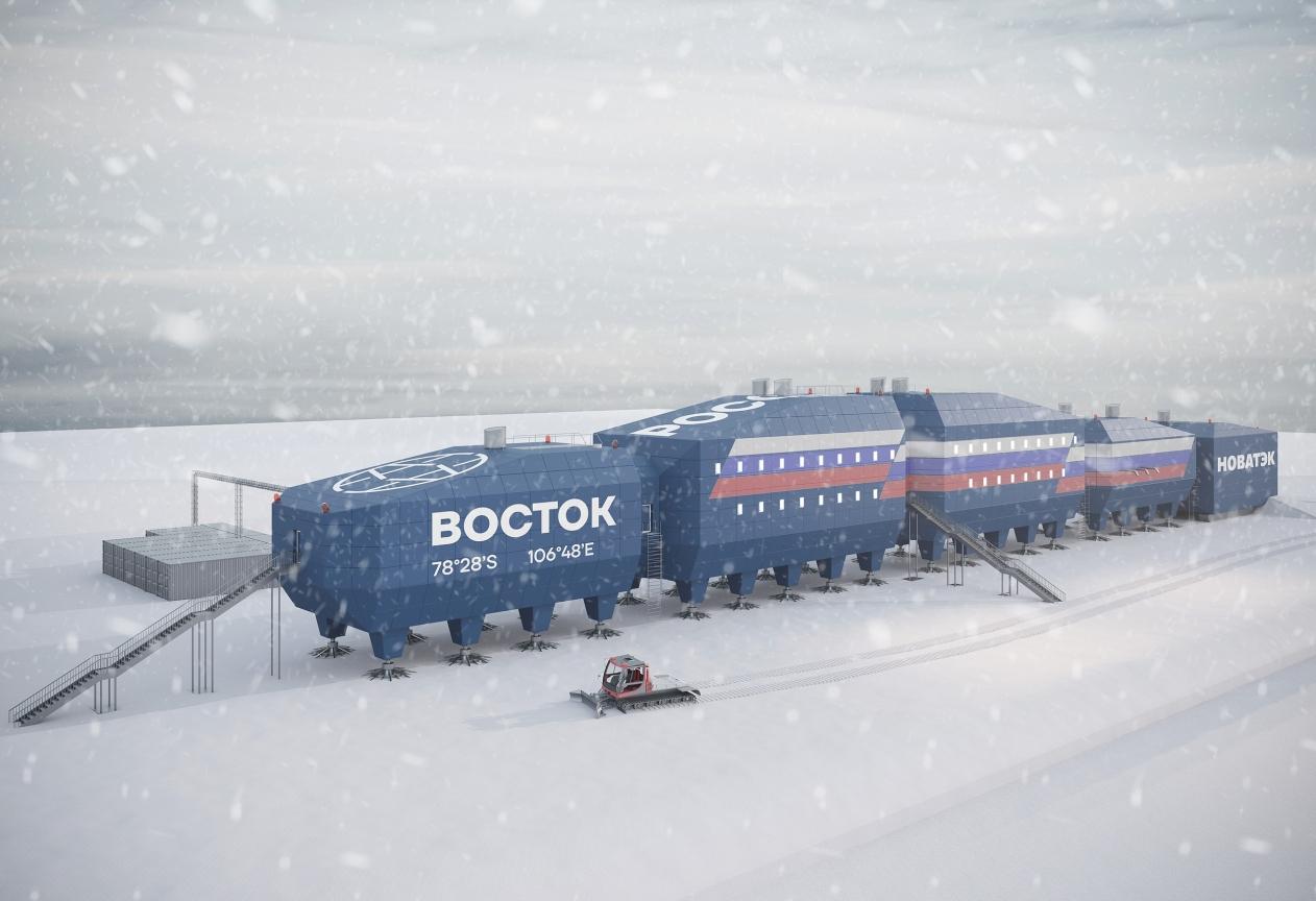 На фото: Новый зимовочный комплекс арктической станции Восток